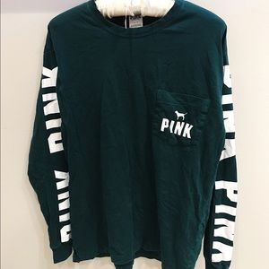 PINK emerald green longsleeve